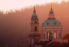 висок святой prague ludmila собора готский Стоковое Изображение
