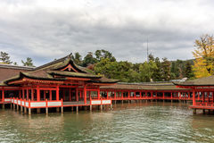 Висок святыни Itsukushima в Miyajima Стоковые Изображения