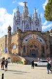 Висок священного сердца Иисуса, Барселоны Стоковая Фотография