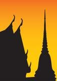 висок силуэта Стоковая Фотография RF