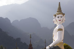 висок скульптуры Лаоса Стоковое фото RF