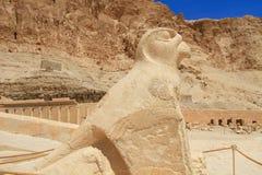 висок скульптуры ферзя horus hapshepsut Стоковые Фото
