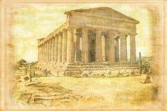 Висок согласия Агридженто Италия Стоковая Фотография