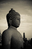 висок статуи Будды Индонесии java borobudur стоковые изображения