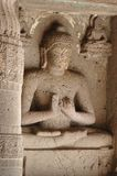 висок статуи Индии подземелья Будды ajanta сложный стоковое фото rf