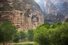 висок статуи скалы фарфора Будды буддийский Стоковое Изображение
