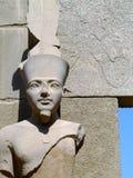 висок статуи 03 karnak Стоковое Фото
