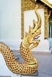 висок статуи nagas короля Стоковая Фотография