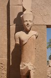 висок статуи pharaoh karnak Стоковая Фотография RF