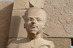 висок статуи pharaoh karnak Стоковое фото RF