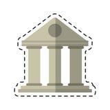 Висок стиля здания университета шаржа Стоковая Фотография RF