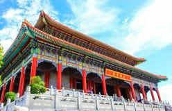 Висок стиля традиционного китайския на Wat Leng-Noei-Yi в Nonthab Стоковое Изображение