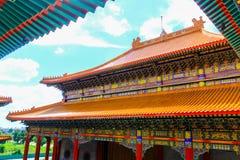 Висок стиля традиционного китайския на Wat Leng-Noei-Yi в Nonthab Стоковое Изображение RF