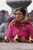 висок субботы bindhyabasini поклоняется Стоковое Фото