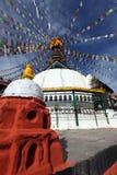 Висок с колесами молитве, Kathmandu Стоковое Изображение RF