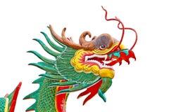 висок Таиланд скульптуры дракона Стоковая Фотография RF