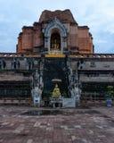 Висок Таиланд Чиангмай Азия Wat Chedi Luang буддийский стоковое фото