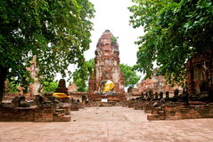 висок Таиланд ayutthaya Стоковые Изображения RF