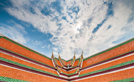 Висок Таиланда крыши верхний Стоковые Фото