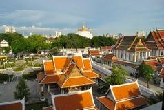 Висок Таиланд горы золота Стоковая Фотография