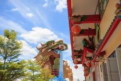 висок Таиланд статуи sian дракона chon buri Стоковое фото RF