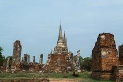 висок Таиланд ayutthaya старый загубленный Стоковое Фото