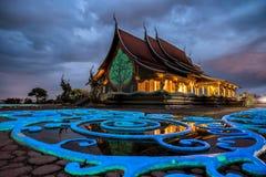 висок тайский Wat Phu Prao висок в провинции Ubon Ratchathani, Таиланде Стоковая Фотография