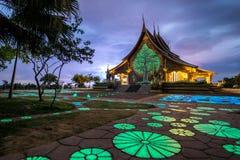 висок тайский Wat Phu Prao висок в провинции Ubon Ratchathani, Таиланде Стоковые Фото
