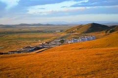висок Тибета Стоковая Фотография