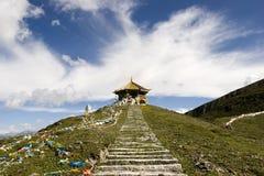висок Тибет горы фарфора Стоковые Фото