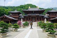 висок тяни типа nunnery lin династии хиа китайский стоковые фотографии rf