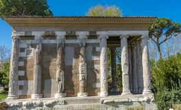 Висок форума Boarium Рима Италии Portunus стоковая фотография