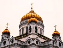 Висок Христос спасителя, Москва Стоковая Фотография RF