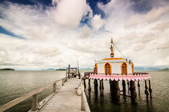 Висок церков в острове Таиланде моря Стоковые Фото