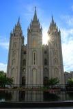 Висок церков Иисуса Христоса новейших Святых с s Стоковые Фото