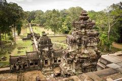 Висок Angkor Thom Bayon Стоковая Фотография