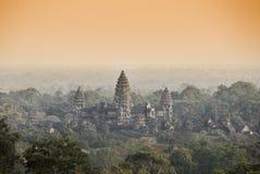 Висок Angkor Wat lotuses озера Камбоджи angkor banteay ужинают висок srey siem Камбоджа Стоковое Фото