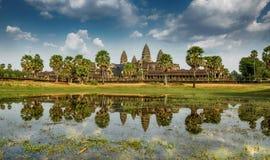 Висок Angkor Wat, Siem ужинает, Камбоджа стоковые фотографии rf
