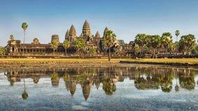 Висок Angkor Wat, Siem ужинает, Камбоджа стоковые изображения rf