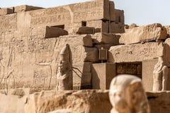 Висок Anscient Karnak в Луксоре - Archology Ruine Thebes Египта около Нила стоковые изображения