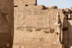 Висок Anscient Karnak в Луксоре - Archology Ruine Thebes Египта около Нила стоковое изображение rf