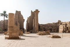 Висок Anscient Karnak в Луксоре - Archology Ruine Thebes Египта около Нила стоковые фотографии rf