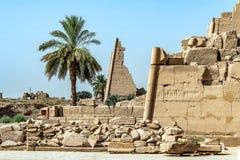 Висок Anscient Karnak в Луксоре - Archology Ruine Thebes Египта около Нила стоковые изображения rf