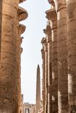 Висок Anscient Karnak в Луксоре - Archology Ruine Thebes Египта около Нила стоковое фото