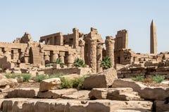 Висок Anscient Karnak в Луксоре - Archology Ruine Thebes Египта около Нила стоковая фотография