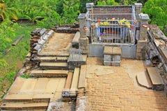 Висок Anuradhapura Isurumuniya, всемирное наследие ЮНЕСКО Шри-Ланки стоковое фото rf