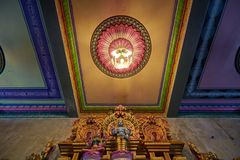 Висок Arul Mihu Navasakthi Vinayagar, только индусский висок в Vict стоковое изображение