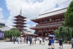 Висок Asakusa или Sensoji, токио Стоковые Изображения RF