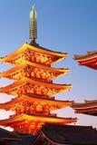 Висок Asakusa на токио Японии Стоковое Изображение