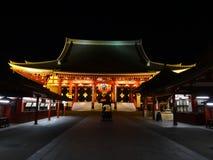 Висок Asakusa - Senso на ноче Стоковые Фотографии RF